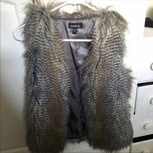 bebe faux vest